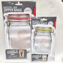 【インスタで話題!】MASON JAR   ZIPPER BAGS