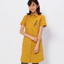 STRETCH SIDE POCKETS SHIRT ONE PIECE