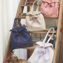 Square Drawstring Tote Bag