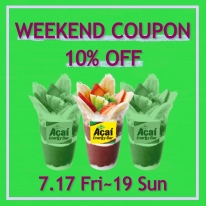 WEEKEND COUPONでアサイーボウルが10%OFF♪
